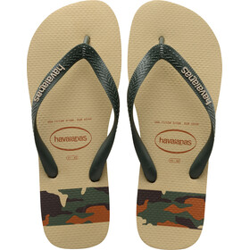 havaianas Top Stripes Logo - Sandales Homme - beige